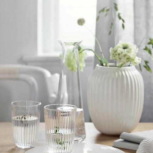 Kähler Vase Hammershøi 20 cm, weiß, weiß