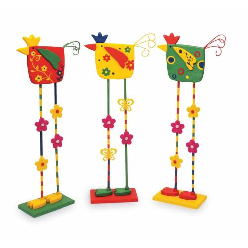 Legler Dekofigur »Deko-Vögel 3er Set«, Holz Dekofiguren