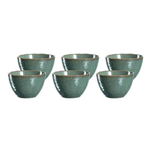 LEONARDO Schale »MATERA Keramikschale 15,3 cm grün 6er Set«, Keramik, (6-tlg)