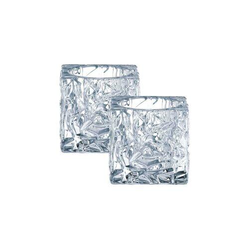 Nachtmann Kerzenhalter »Ice CubeTeelichthalter 2-tlg.«