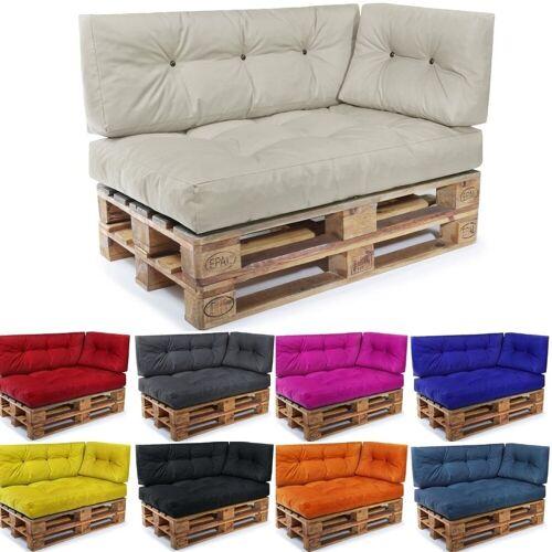 Easysitz Sitzkissen »Palettenkissen Set 3«, 120 x 80 cm für Europaletten, Creme