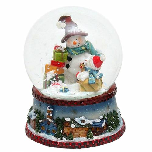 SIGRO Schneekugel »Schneekugel Schneemann mit Schal«