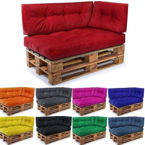 Easysitz Sitzkissen »Palettenkissen Set 3«, 120 x 80 cm für Europaletten, Rot