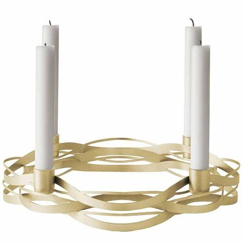 Stelton Kerzenleuchter »Tangle Advent Kerzenhalter aus Messing Adventskranz«