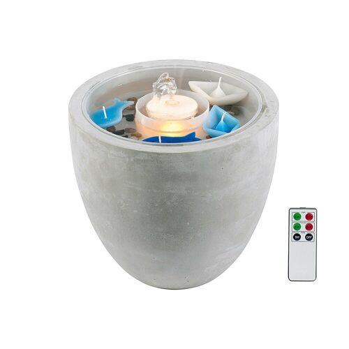 HTI-Living Dekoobjekt »Brunnen Zement LED mit Deko Fernbedienung«, Brunnen