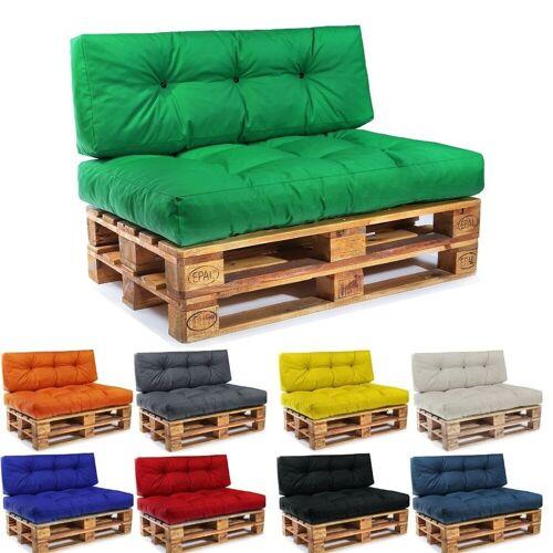 Easysitz Sitzkissen »Palettenkissen Set«, 120 x 80 cm für Europaletten, Grün