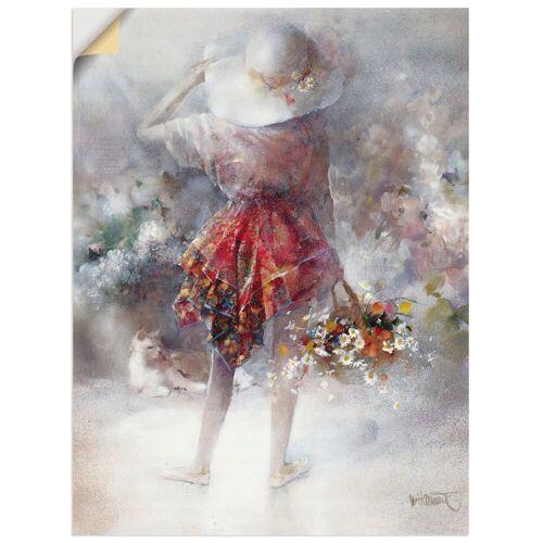 Artland Wandbild »Blumenmädchen«, Kind (1 Stück)