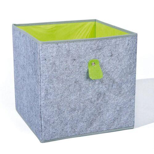 Inter Link Aufbewahrungsbox »Aufbewahrungsbox, grün/grau«, grau