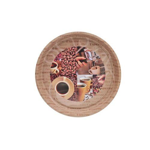 HTI-Living Tablett »Tablett mit Kaffee-Motiv Espresso«, Metall, Tablett