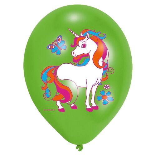 Amscan Luftballon »Luftballon Einhorn, 6 Stück«