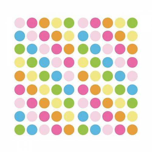 RoomMates Wandsticker »Wandsticker Pastel Punkte, 180-tlg.«