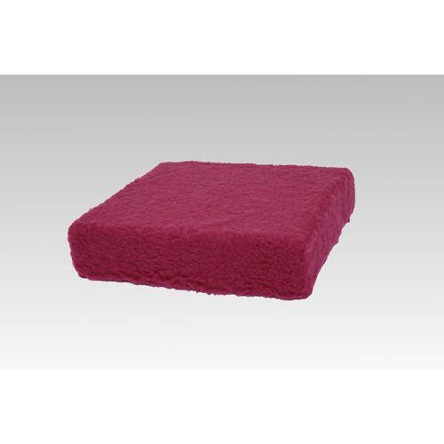 Licardo Sitzkissen »Sitzkissen Sitzerhöhung Wolle bordeaux 40/40/10 cm«