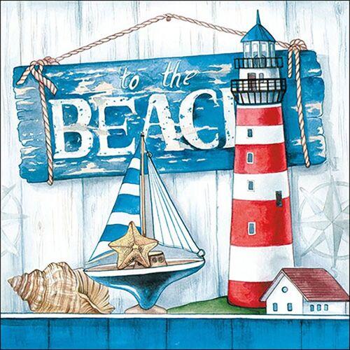 Ambiente Papierserviette »Beach«, (20 St), 33 cm x 33 cm