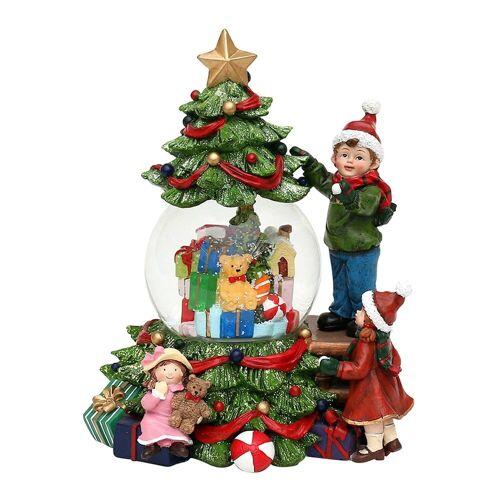 SIGRO Schneekugel »Schneekugel Kinder am Weihnachtsbaum«