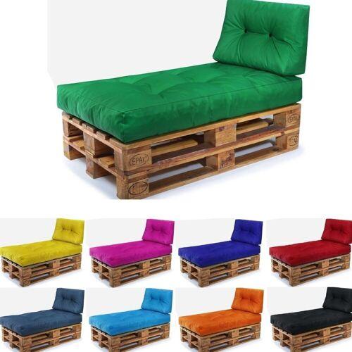 Easysitz Sitzkissen »Palettenkissen Set 2«, 120 x 80 cm für Europaletten, Grün