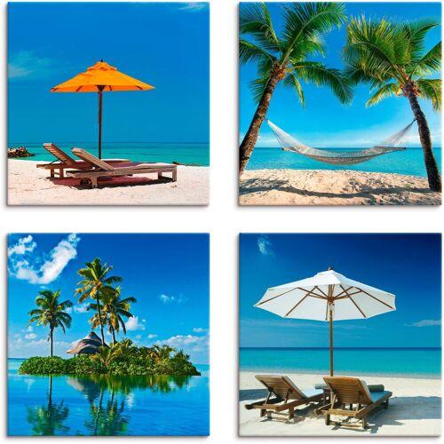 Artland Leinwandbild »Tropisches Paradies«, Strand (4 Stück)