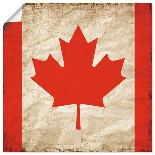 Artland Wandbild »Schöne kanadische Fahne im Vintage-Look«, Zeichen (1 Stück)
