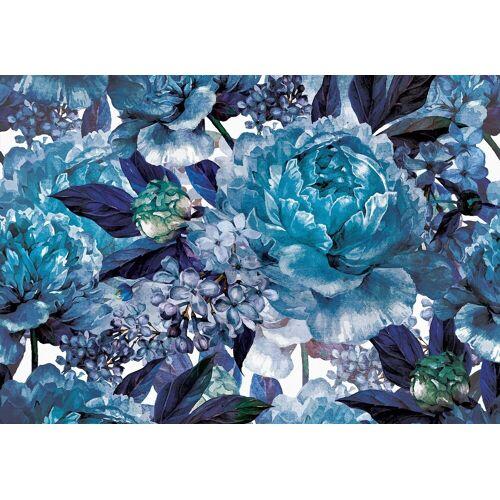 Consalnet Papiertapete »Blaues Muster mit Blume«, floral