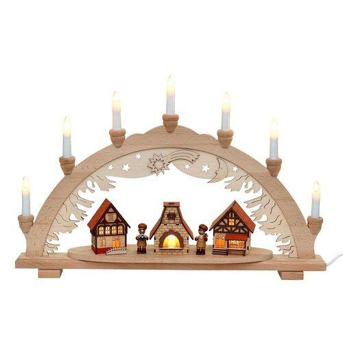 SIGRO Schwibbogen »Holz Schwibbogen Weihnachtsbäckerei«, Schwibbogen