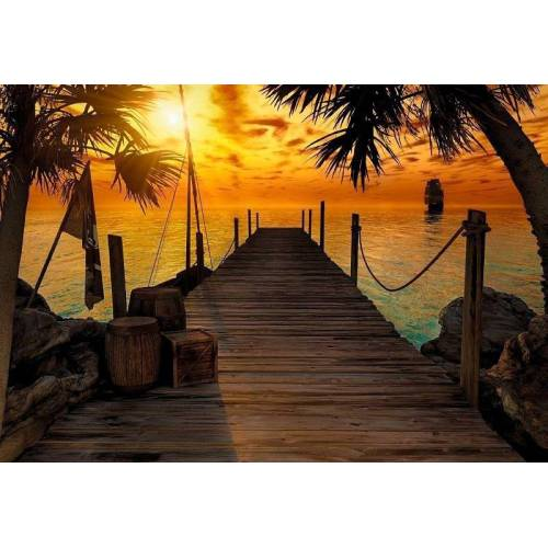 Komar Fototapete »Treasure Island«, grau