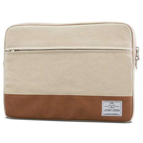 Johnny Urban Laptop-Hülle »15 Zoll Laptoptasche« 15 Zoll Laptop, Weiche Polsterung, Sand-Braun