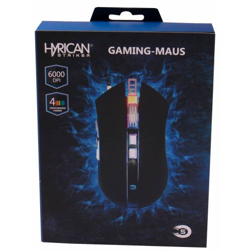 Hyrican Striker Gaming 9 Tasten Maus ST-GM108 USB RGB »Mäuse/Joystick«