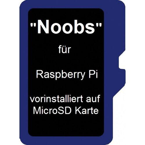 Raspberry Pi Foundation Speicherkarte »Pi Micro SD Karte 16GB inkl. Noobs vorinstalliert«, Blau