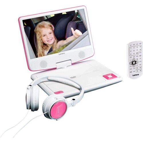 Lenco »DVP-910« Portabler DVD-Player, pink