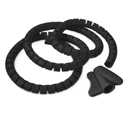 relaxdays Kabelführung »Kabelschlauch Kabelhülle schwarz 1,5 m«