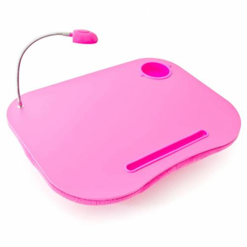 relaxdays Laptop Tablett »Laptopkissen mit Licht pink«, Kunststoff
