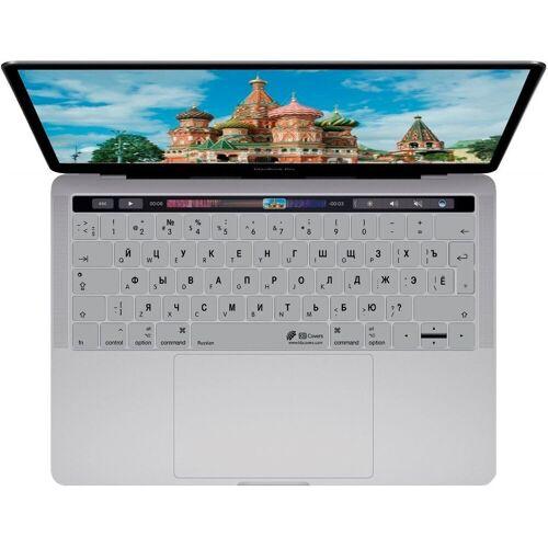 """KB COVERS »Tastatur-Abdeckung Deutsch / ISO auf Kyrillisch Russisches Russland Layout Skin Schutz-Cover Hülle Passend für Apple MacBook Pro 13"""" 15"""" ab 2016 / MacBook 12"""" / Magic Keyboard« Apple-Tastatur (Tastaturskin), Silber"""