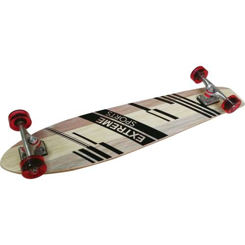L.A. Sports Longboard »Longboard Pintail Cruiser Single Kicktail Board«