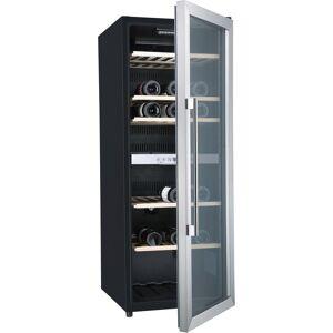 Hanseatic Weinkühlschrank 41677525 JC-201S mit 2 regelbaren Temperaturzonen, für 77 Standardflaschen á 0,75l, Energieeffizienzklasse B