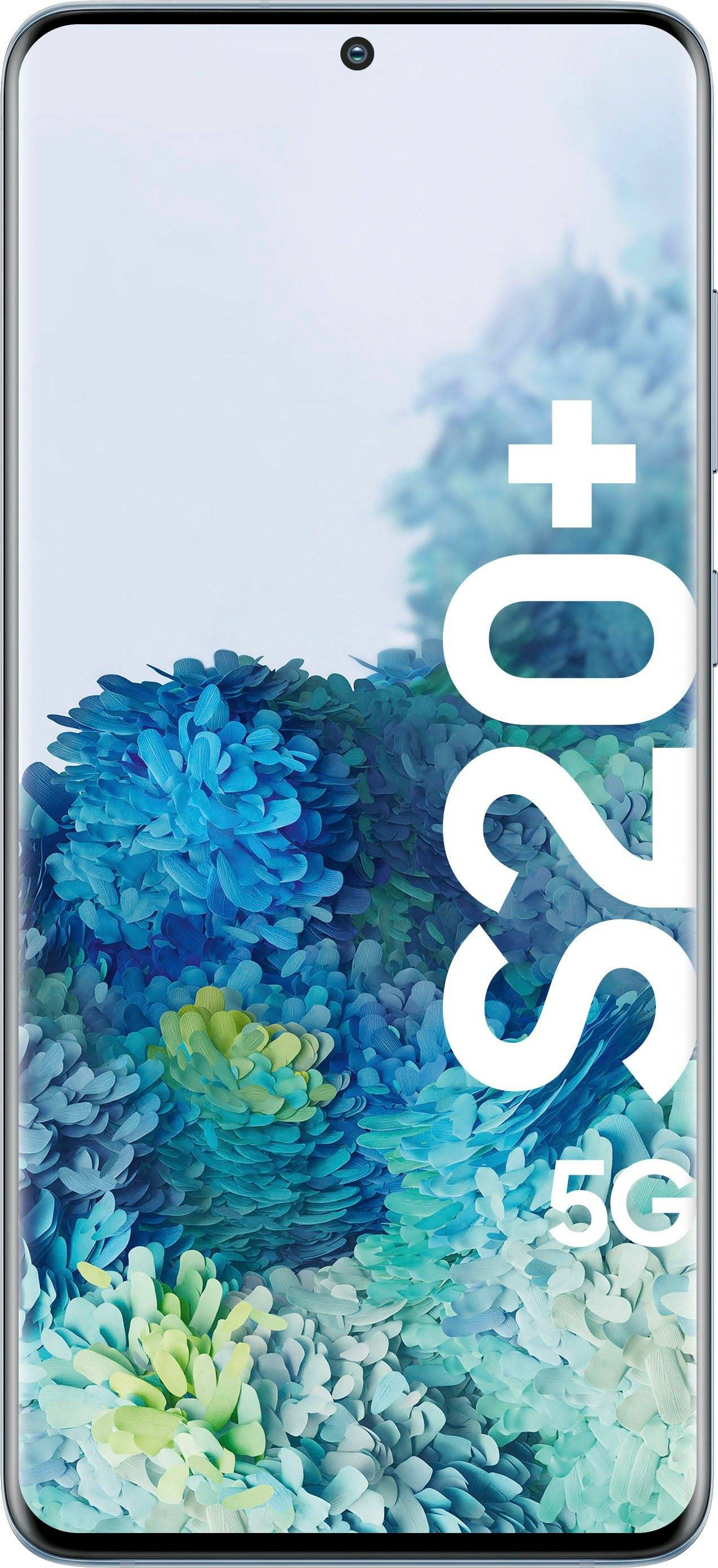Samsung Galaxy S20+ 5G Smartphone (16,95 cm/6,7 Zoll, 128 GB Speicherplatz, 12 MP Kamera), Cloud Blue