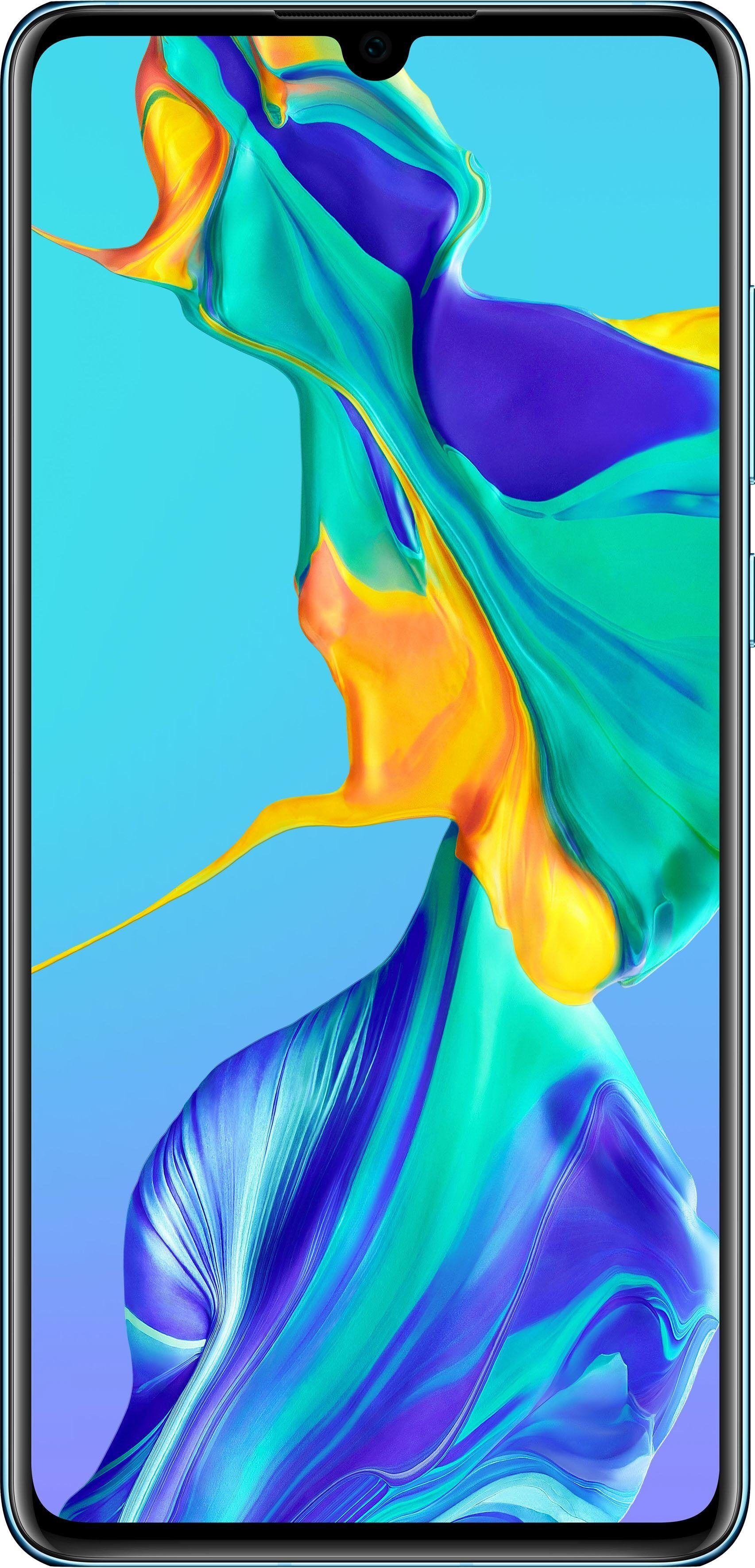 Huawei P30 Smartphone (15,49 cm/6,1 Zoll, 128 GB Speicherplatz), breathing crystal