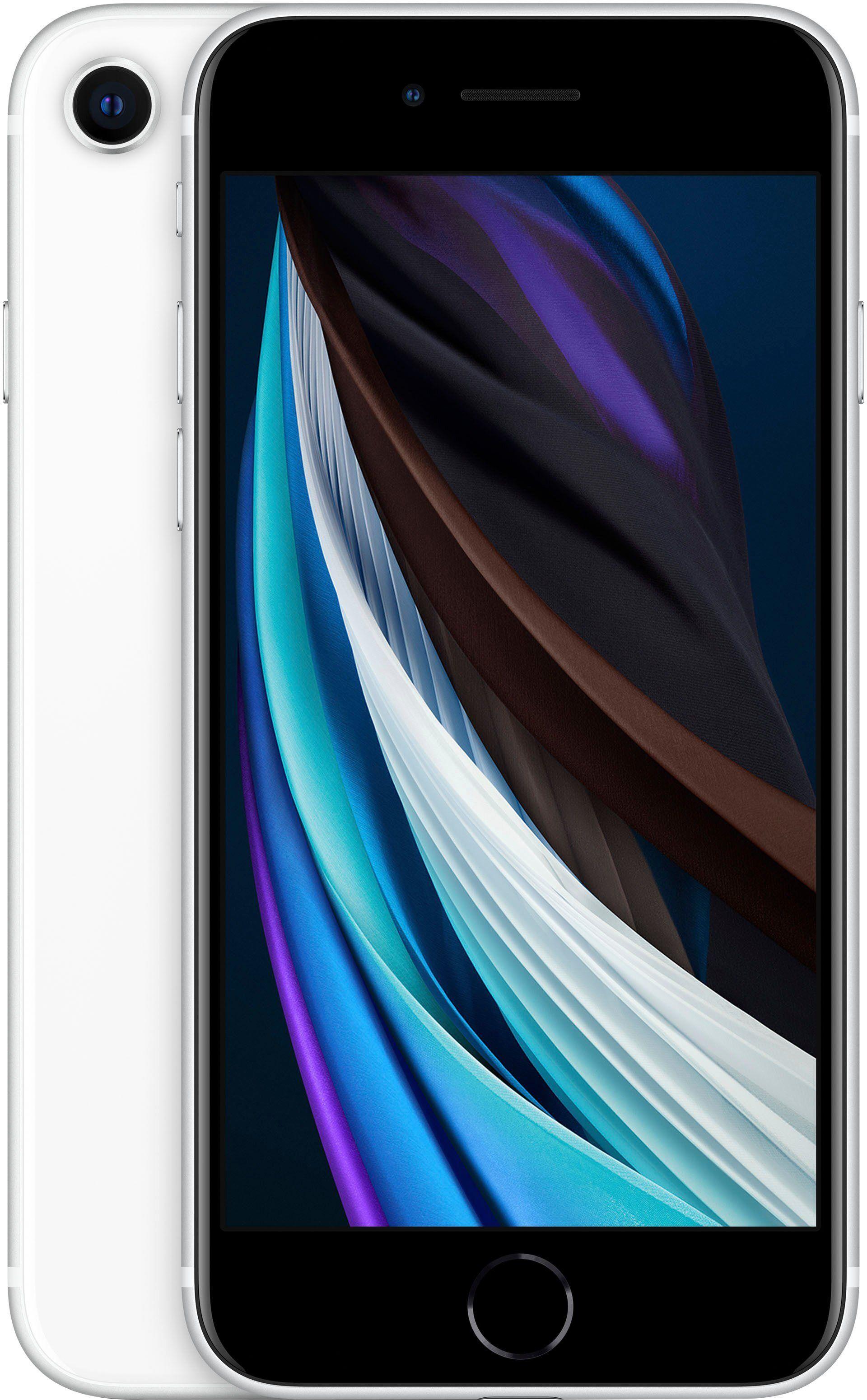 Apple iPhone SE 128GB Smartphone (11,94 cm/4,7 Zoll, 128 GB Speicherplatz, 12 MP Kamera, inkl. Lightning Kabel und Earpods), weiß