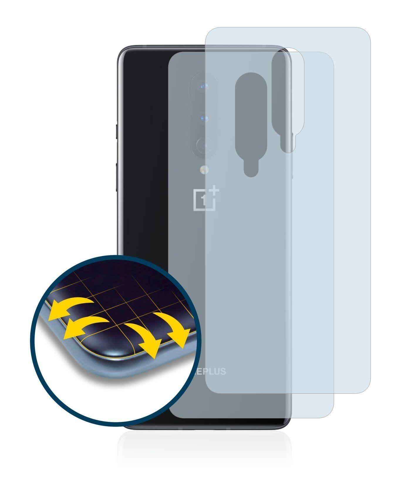 BROTECT Schutzfolie »für OnePlus 8 (Rückseite)«, (2 Stück), Full-Cover 3D Curved klar