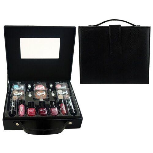 GLOSS! Make-up Set, 27-teilig mit u.a. Lippenstift, Rouge, Lidschatten und Nagellack