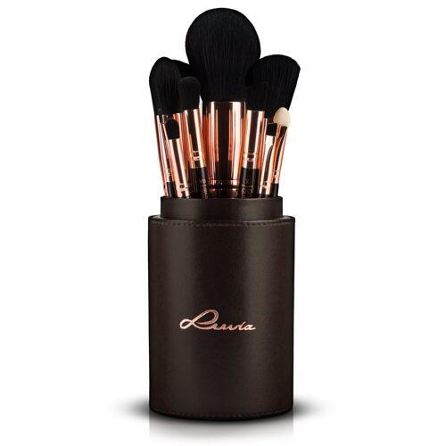 Luvia Cosmetics Kosmetikpinsel-Set »Golden Queen«, 15 tlg., vegan