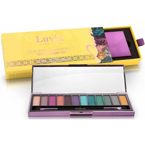 Luvia Cosmetics Lidschatten-Palette »Criminal Shades Vol.1«, 2-tlg., Vegane Lidschatten-Palette