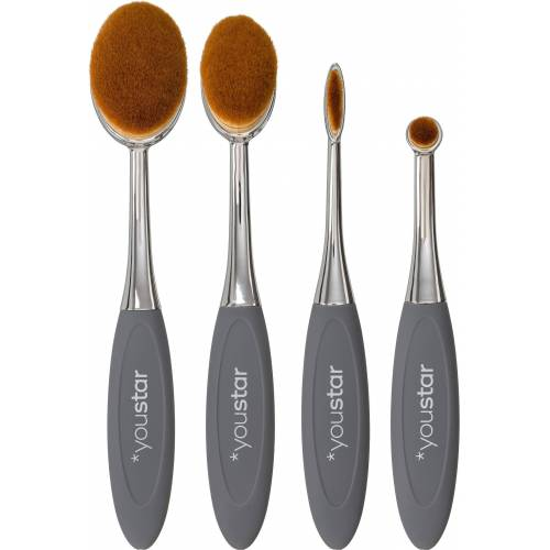 youstar Zahnbürstenpinsel »Professional Series Make-up Oval Pinselset«, 4 tlg.