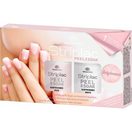 alessandro international UV-Nagellack-Set »Striplac Peel or Soak Babyboomer Set«