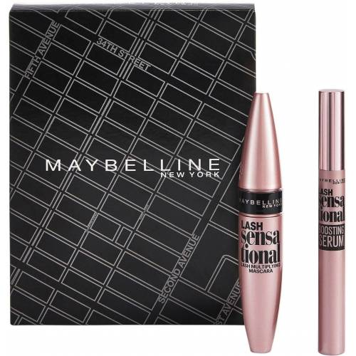MAYBELLINE NEW YORK Make-up Set »Lash Sensational Mascara und Lash Sensational Wimpernserum«, 2-tlg.