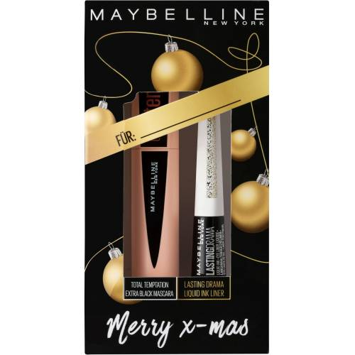 MAYBELLINE NEW YORK Make-up Set »X-MAS Total Temptation«, 2-tlg., Mascara black + Glitzer Liner Nr. 34 Sparkling