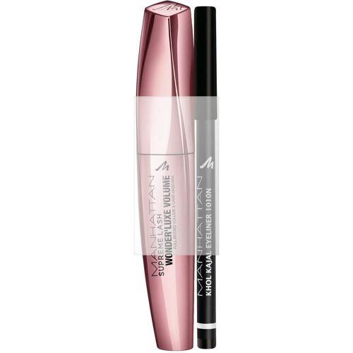 MANHATTAN Augen-Make-Up-Set »Supreme Lash Wonder'luxe Volume Mascara + gratis Khol Kajal«, 2-tlg.