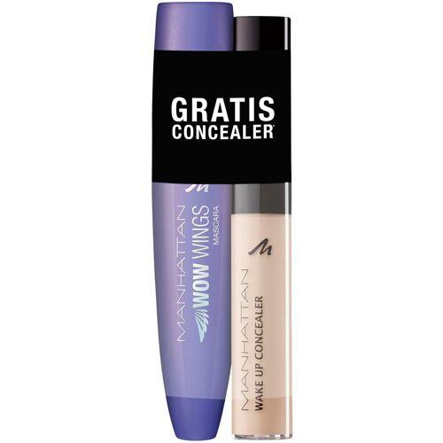MANHATTAN Make-up Set »WOW Wings Mascara + gratis Wake Up Concealer«, 2-tlg.