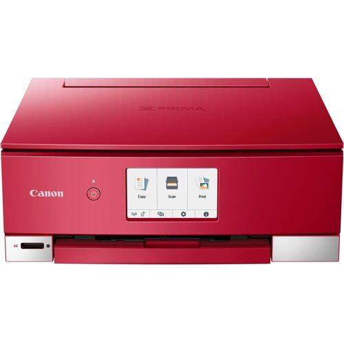Canon PIXMA TS8250_51_52 Multifunktionsdrucker, (WLAN (Wi-Fi), rot
