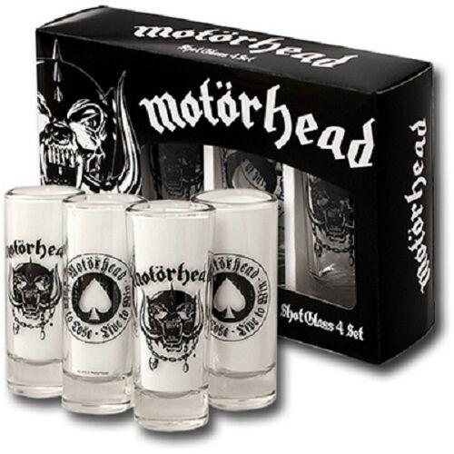 Motörhead Gläser-Set »Schnapsgläser Shot Glass 4er BORN TO LOSE LIVE TO WIN Set Neu«