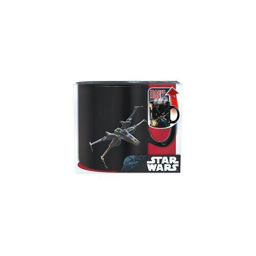 Star Wars Tasse »Tasse Darth Vader Thermoeffekt 460 ml«, schwarz/weiß