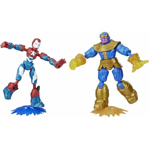 Hasbro Actionfigur »Marvel Avengers: Bend And Flex, Iron Patriot vs. Thanos Figuren«, (Set, 2-tlg)